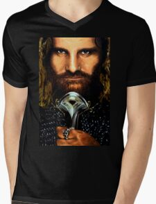 Lord of the Rings: Aragorn Mens V-Neck T-Shirt