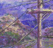 Power Pole (pastel) by Niki Hilsabeck