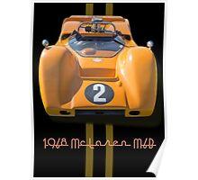 1968 McLaren M6B Can Am Race Car Poster