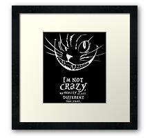 Cheshire White Framed Print