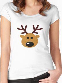 Reindeer Women's Fitted Scoop T-Shirt
