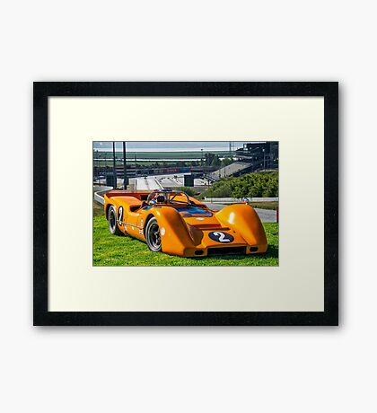 1968 McLaren M6B Can Am Race Car Framed Print