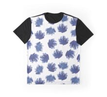 Hand painted ink flowers pattern. Graphic T-Shirt