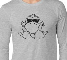 Cooler Monkey With Sunglasses Long Sleeve T-Shirt