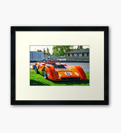 1971 McLaren MBE 80-03A Can Am Race Car Framed Print