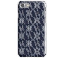 Navy Blue and White Hand drawn patterns iPhone Case/Skin