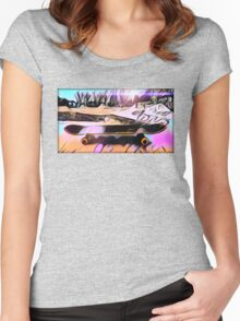 Skate is Art Women's Fitted Scoop T-Shirt