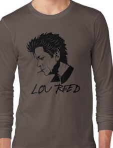 Lou Reed (Black) Long Sleeve T-Shirt