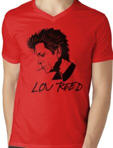 Lou Reed (Black) Mens V-Neck T-Shirt