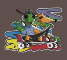 skateboard aliens Baby Tee