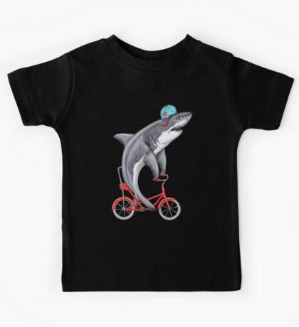 Cycling Shark  Kids Clothes