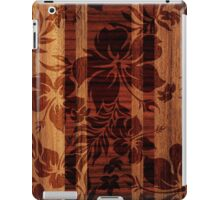 Keokea Beach Faux Wood Hawaiian Surfboard  iPad Case/Skin