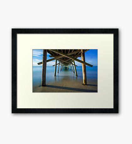 Beneath the Fishing Pier Framed Print
