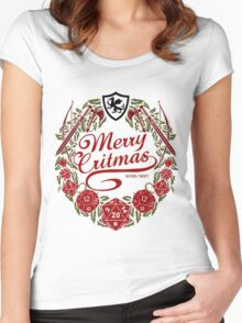 Merry Critmas - Colour Version Women's Fitted Scoop T-Shirt
