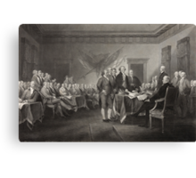 Signing the Declaration of Independence Canvas Print