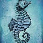 Seahorse II ~ Ink and Watercolor by Amber Marine