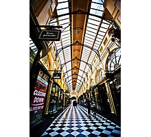 Melbourne City Shopping  Photographic Print