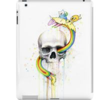 Adventure through Time and Face with Jake, Finn, and Lady Rainicorn | Skull Watercolor iPad Case/Skin