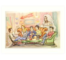 The One Where They're Cartoons Art Print
