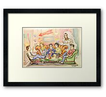 The One Where They're Cartoons Framed Print