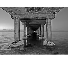 Dromana Pier in B & W Photographic Print