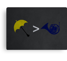 Yellow Umbrella Wins Canvas Print