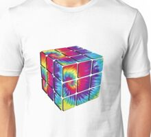 Rubiks Cube Tie Dye Unisex T-Shirt