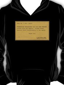 Erased - Eternal Sunshine Memory Merchandise T-Shirt
