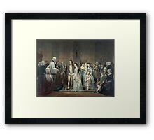 The Wedding of George Washington and Martha Dandridge Framed Print
