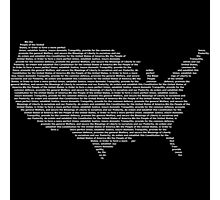 America Constitution Shape Map Photographic Print