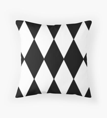2017 COLLECTION  BLACK AND WHITE    HARLEQUIN Throw Pillow