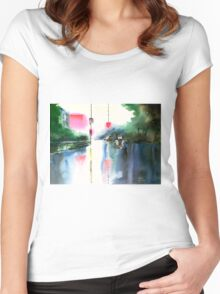 Rainy Day New Women's Fitted Scoop T-Shirt