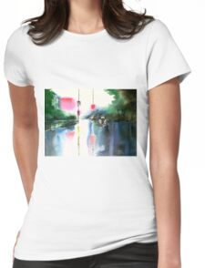 Rainy Day New Womens Fitted T-Shirt