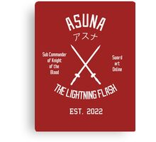 The Lightning Flash (White) Canvas Print