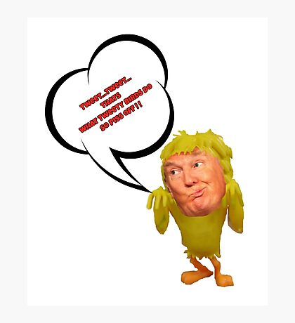 Tweeting Trump Photographic Print