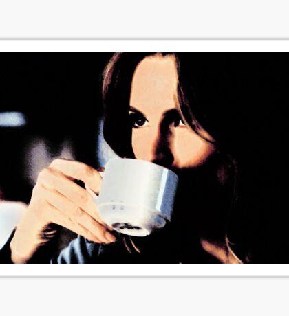 Stana Katic Coffee Sticker