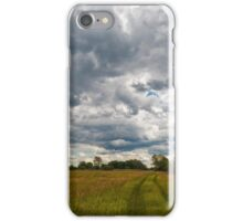 Stormy clouds over meadow iPhone Case/Skin