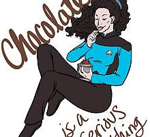 Chocolate - Sticker by Jamie Kinosian