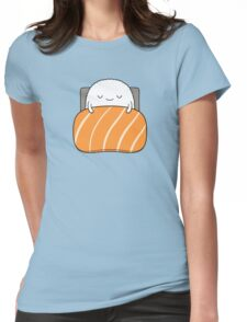 sleepy sushi bed Womens Fitted T-Shirt