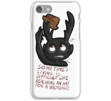Hannibal - Sometimes living is difficult iPhone Case/Skin