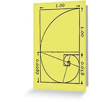 The Golden Spiral Greeting Card