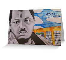 Wesley Willis Portrait Greeting Card