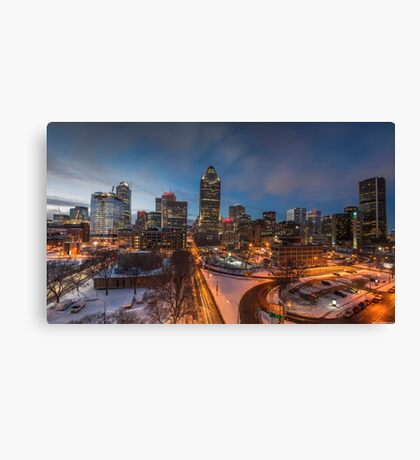 Montreal By Night Canvas Print