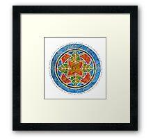 Om Shanti - Peace Zen Mandala Framed Print
