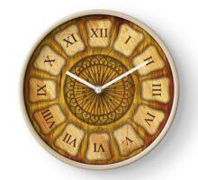056 Wall Clock wood and iron Clock
