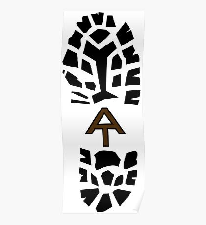 Appalachian Trail Boot Print- Brown Poster