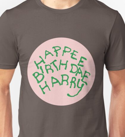 Happee Birthdae Harry - Circle Unisex T-Shirt