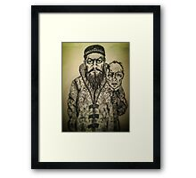 Ivan the Terrible ink drawing Framed Print