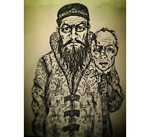 Ivan the Terrible ink drawing Photographic Print