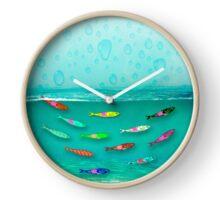 058 Wall Clock Sardines in water Clock